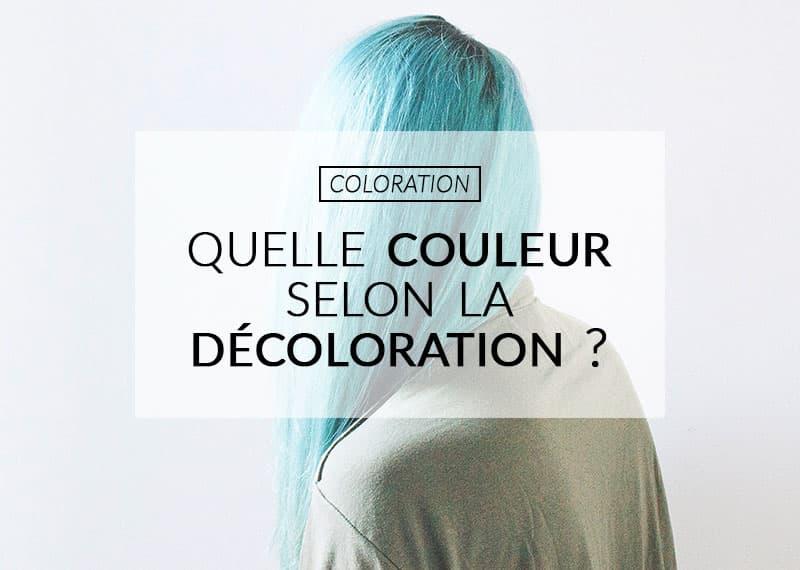 coloration sur cheveux décolorés