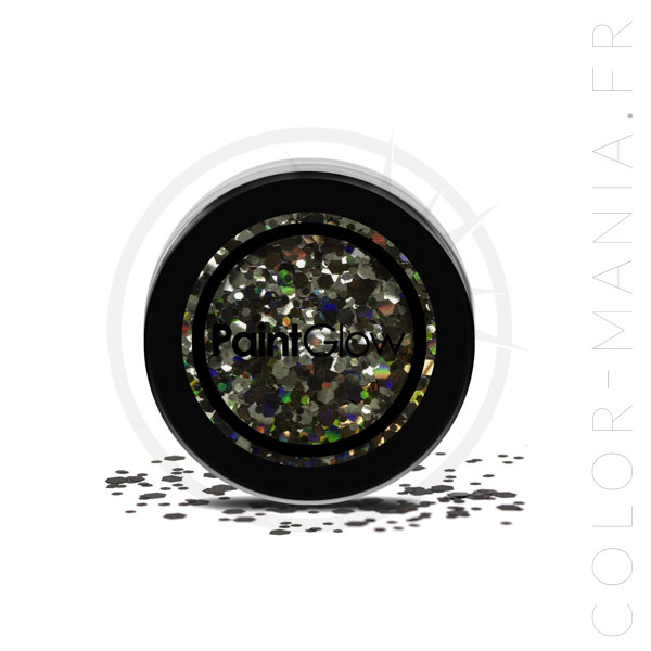 Grosses Paillettes Maquillage Noir Black Enchantress - PaintGlow | Color-Mania