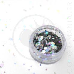 Grosses Paillettes Maquillage Argenté Disco Fever - PaintGlow | Color-Mania
