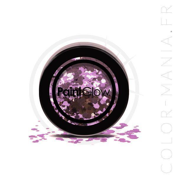 Big Sequins Makeup Purple Helter Skelter - PaintGlow | Color-Mania