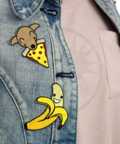 Patch Chiot & Pizza et Happy Banane | Color-Mania