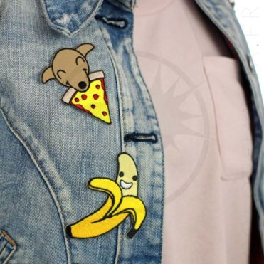 Patch Chiot & Pizza et Happy Banane | Color-Mania
