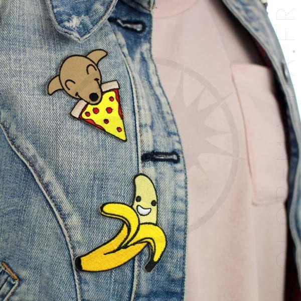 Patch Chiot & Pizza et Happy Banane   Color-Mania