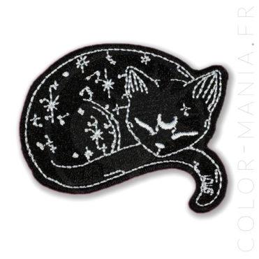 Patch Chat Stellaire Noir | Color-Mania