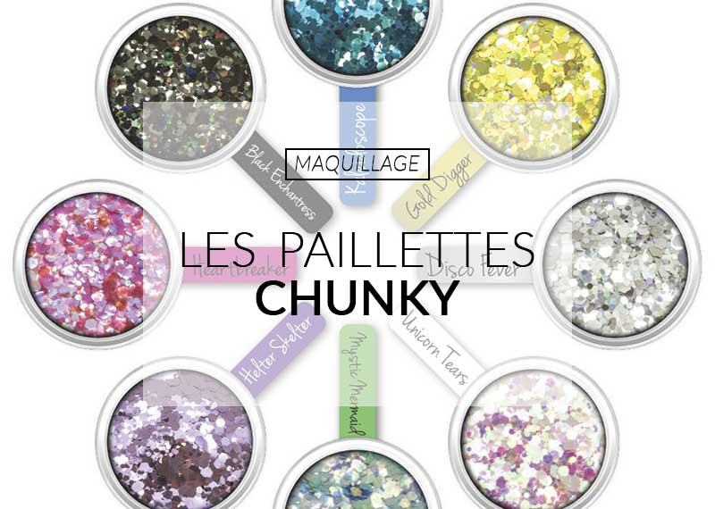 paillettes maquillage color mania