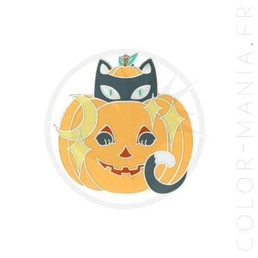 Pin's Chat Jack-O'-Lantern Orange | Color-Mania