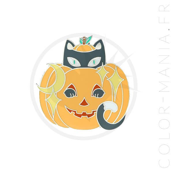 Orange Jack-O'-Lantern Chat Pins | Color-Mania