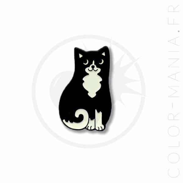 Pin's Chat Noir et Blanc | Color-Mania
