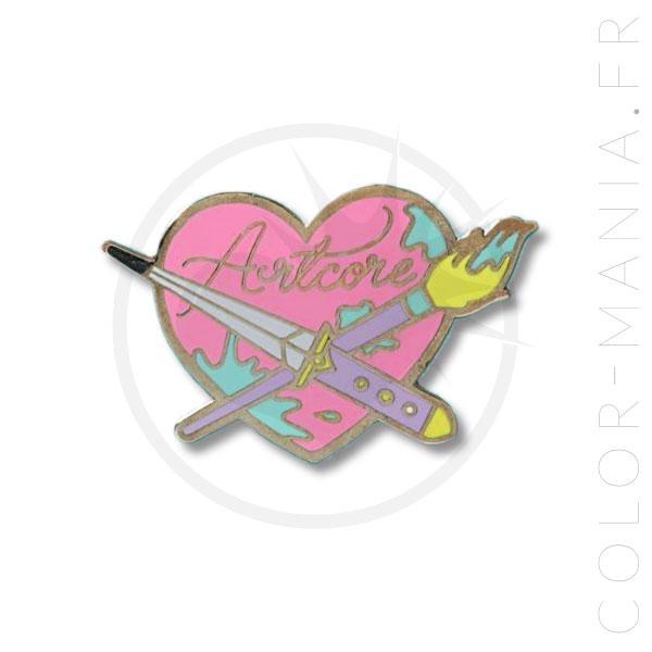 Pin's Cœur Artcore Rose | Color-Mania
