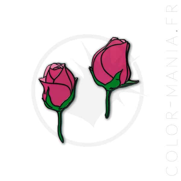 Par de rosas Pin | Color-Mania
