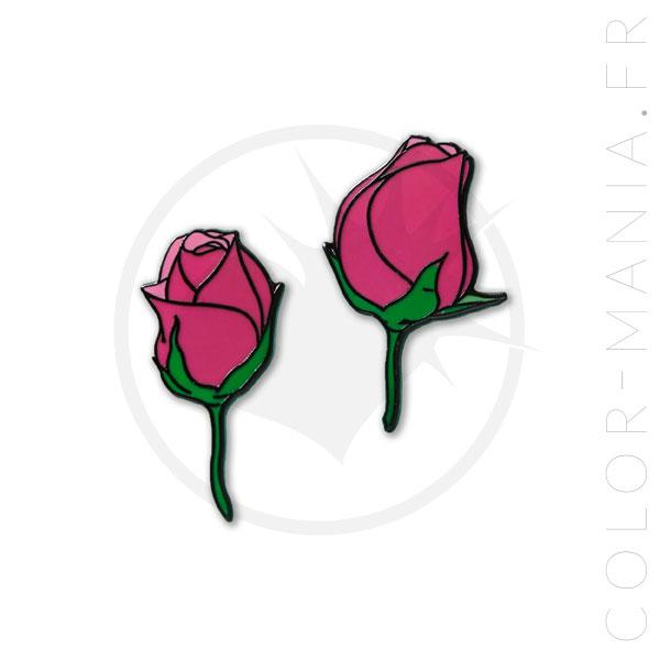 Paire de Pin's Roses | Color-Mania