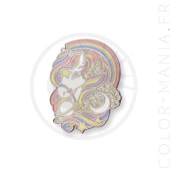 Pin's Licorne Arc-en-Ciel Pastel & Paillettes | Color-Mania
