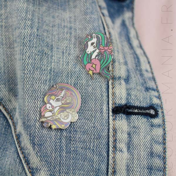 Rainbow Pastel Unicorn Pin & Sequins | Color-Mania
