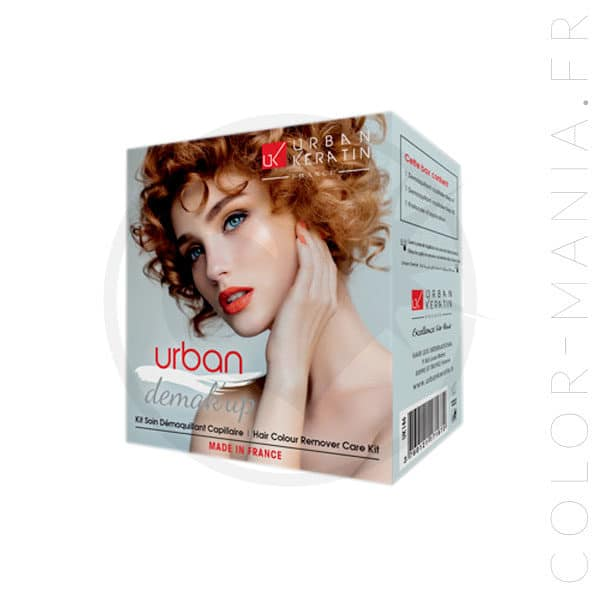 Packaging du kit démaquillant cheveux Urban Keratin