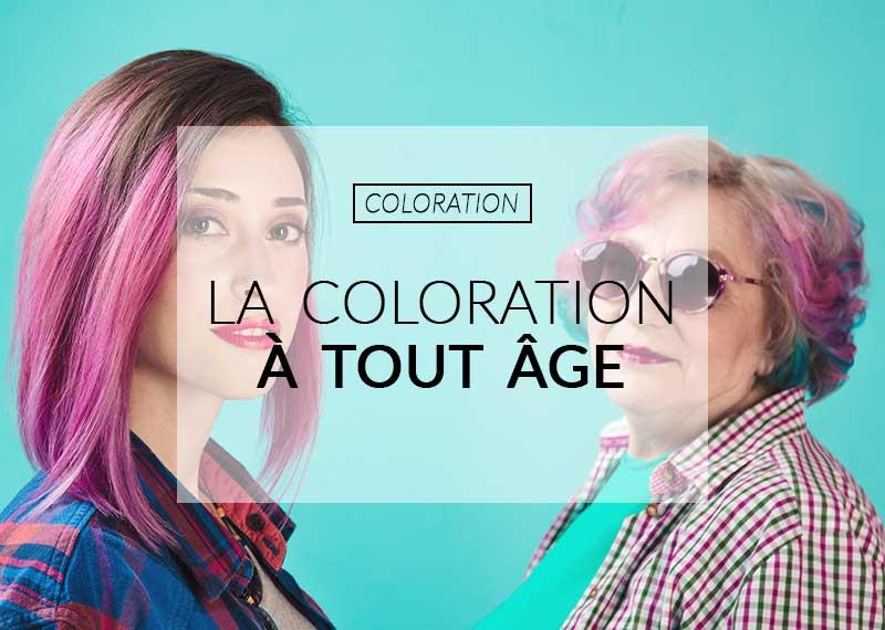 âge pour faire une coloration