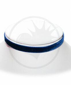 Collier Ras-de-Cou Velours Bleu Nuit | Color-Mania