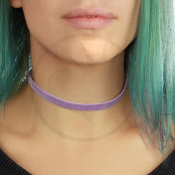 Collar de gargantilla de terciopelo Lila Púrpura | Color-Mania