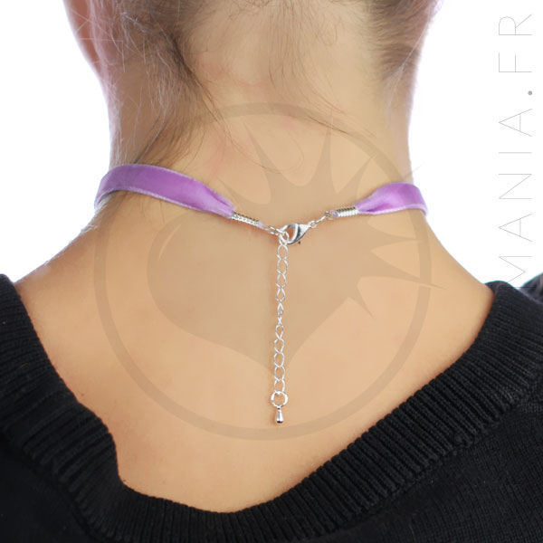 Collar de gargantilla lila violeta lila | Color-Mania