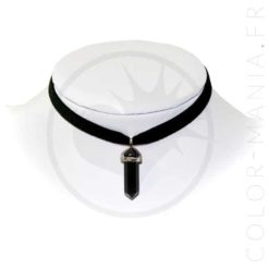 Collier Ras-de-Cou Velours Onyx Noir | Color-Mania