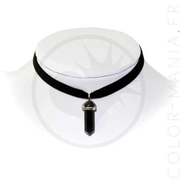Collier Ras-de-Cou Velours Onyx Noir | Color-Mania