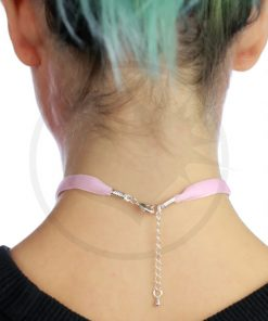 Collier Ras-de-Cou Velours Rose Pastel | Color-Mania