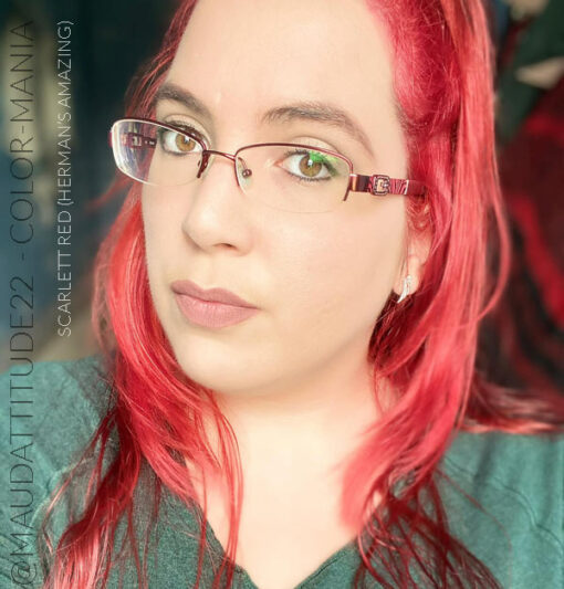 Merci @maudattitude22 :) Coloration Cheveux Rouge Scarlett Red - Herman's Amazing | Color-Mania