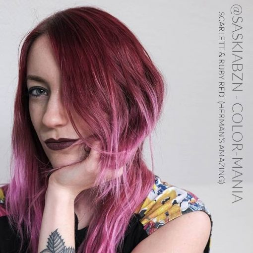 Merci @saskiabzn :) Coloration Cheveux Rouge Ruby Red - Herman's Amazing | Color-Mania
