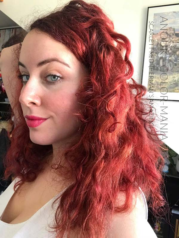 Merci Anouk :) Coloration Cheveux Rouge Scarlett Red - Herman's Amazing | Color-Mania