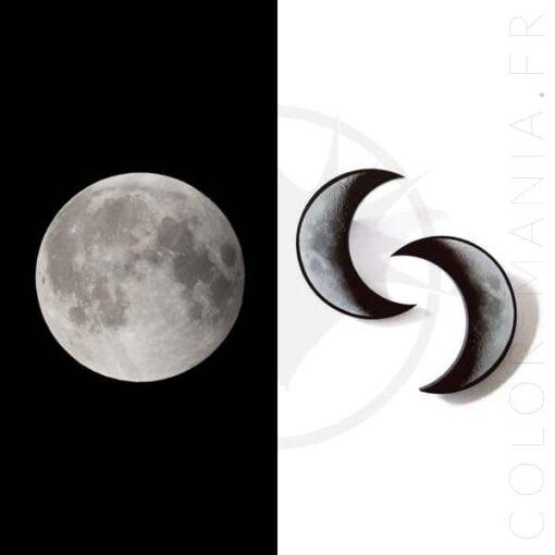 Crescent Bars of Moon Grigio e Nero | Color-Mania