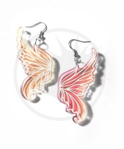 Boucles d'Oreilles Ailes de Fée Transparent Irisé | Color-Mania