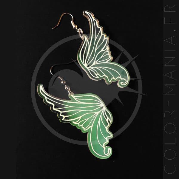 Orecchini alati Fairy iridescente | Color-Mania