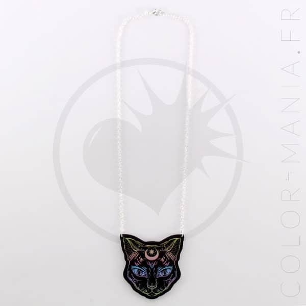Collier Noir Chat Noir Mystique Pastel | Color-Mania