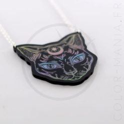 Collier Noir Chat Noir Mystique Pastel | Color-Mania