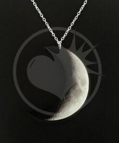 Collier Croissant de Lune Gris et Noir | Color-Mania