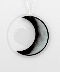 Collar de luna creciente gris y negro | Color-Mania