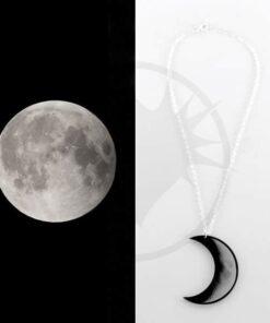 Collana Luna Crescent Grigio e Nero | Color-Mania