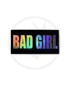 Patch Bad Girl Noir Holographique | Color-Mania