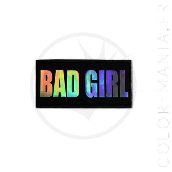 Patch Bad Girl Noir Holographique | Color-Mania