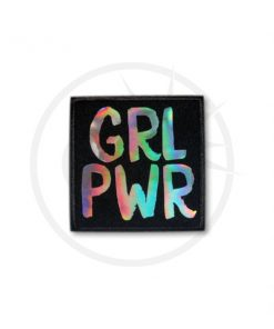 Patch Grl Pwr Holographique Noir | Color-Mania.fr