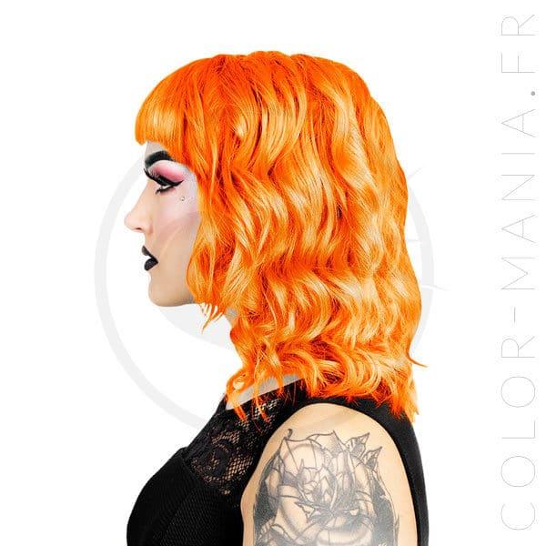 Résultat estimé de la coloration orange Tara Herman's Amazing sur modèle