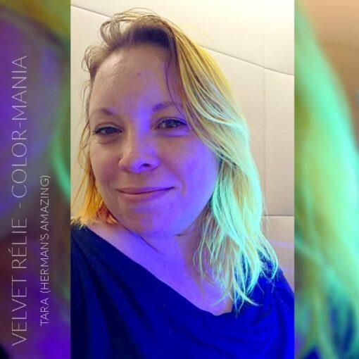 Merci Velvet Rélie :) Coloration Cheveux Mandarine Tara UV [Sous lumière noire] - Herman's Amazing | Color-Mania