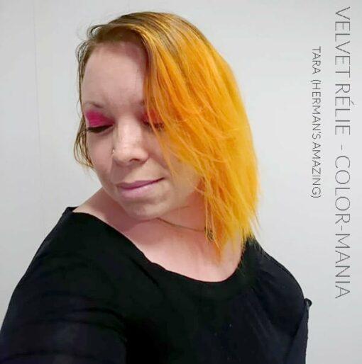 Merci Velvet Rélie :) Coloration Cheveux Mandarine Tara UV - Herman's Amazing | Color-Mania
