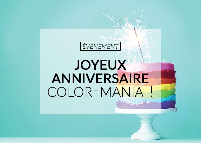 anniversaire color mania