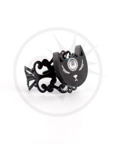 Anello nero Mystic Cat Head | Color-Mania