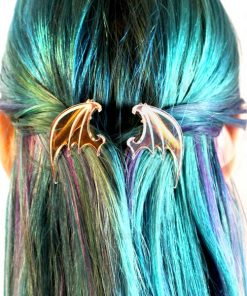 Iridiscente Transparente Dragon Wing Barrettes | Color-Mania