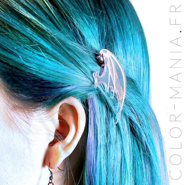 Barrettes Ailes de Dragon Transparent Irisé | Color-Mania