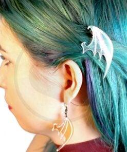 Barrettes Ailes de Dragon Transparent Irisé   Color-Mania