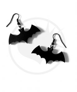 Black Bat Earrings Hooks | Color-Mania