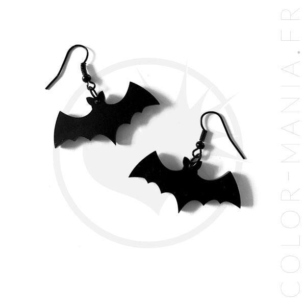 Black Bat Earrings Hooks | Color-Mania