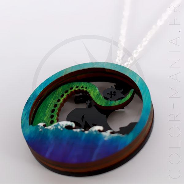 Collar de diorama Tentacule verde azul | Color-Mania